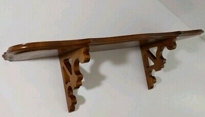 Vintage Tell City Chair Co.  Carved Maple Wood Wall Shelf - Corbel