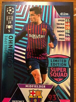 Match Attax 18/19 UEFA Champions League UCL 2018/19 Limited Edition Super Squad