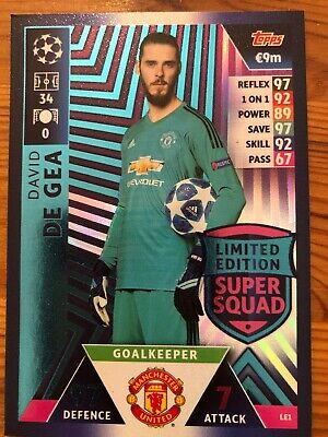 Match Attax Champions League 2018/19 18/19 Limited Edition Super Squad