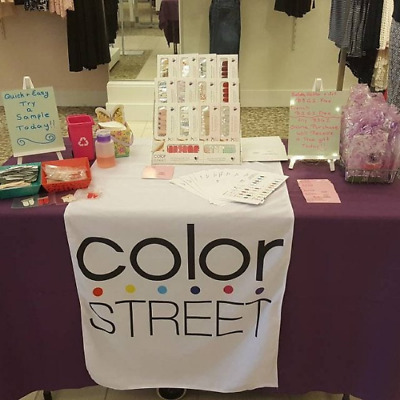 "Color Street Table Runner 24""x72"" Table Banner for Marketing Color Street"