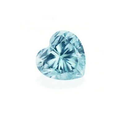 Heart Aquamarine Cubic Zirconia Loose Stones 4 MM (0.25 CT ) CZ For Jewelry