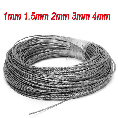 1mm 1.5mm 2mm 3mm 4mm Stainless Steel Cable Rigging Wire Rope Flexible