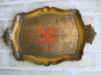 GORGEOUS VINTAGE RARE DETAILED SERVING TRAY - 23 cm By 34 cm - MADE IN ITALY