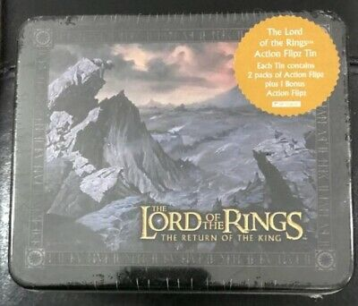 LOTR Artbox Road to Mordor Action Flipz Tin Authentic Return of the King Sealed