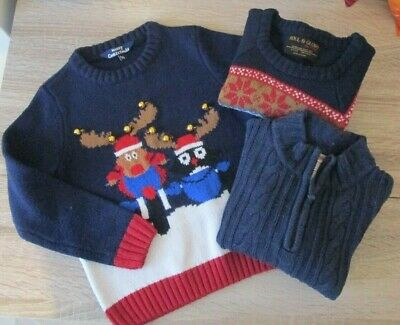 BOYS Clothes Bundle JUMPERS Age 4-5 Winter Clothing Jumper Ages 4 5