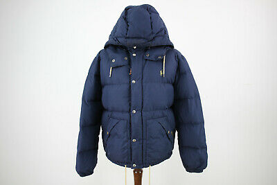 Mens Ralph Lauren Polo Navy Quilted Down Puffer Jacket Size L