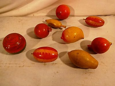 Vintage Wooden Fruit Hand Painted And Coloured Rare Decorative Collectibles Item