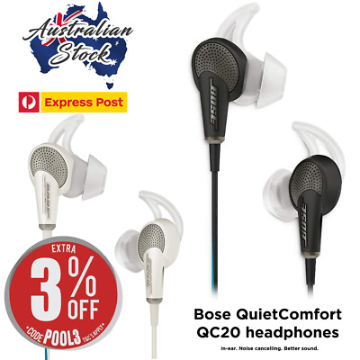 New BOSE QuietComfort 20 QC20i Noise Cancelling Headphones (3 Colours) - EXPRESS