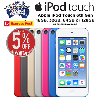 Apple iPod Touch 6th Gen 16GB / 32GB / 64GB  / 128GB (All Colours) EXPRESS POST