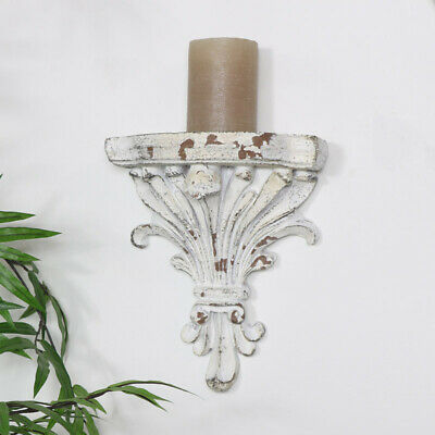 Decorative antique white wall sconce shelf corbel display French shabby chic