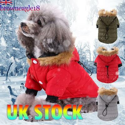 Pet Small Dog Puppy Cotton Warm Coat Jacket Hoodie Thick Apparel Outwear Clothes