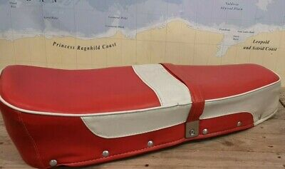 Lambretta Dual Seat Red & White