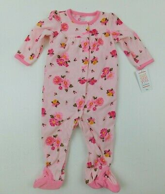 Carter's Just One You Girls Pink Floral Footed One Piece Sleeper 9 Months NWT