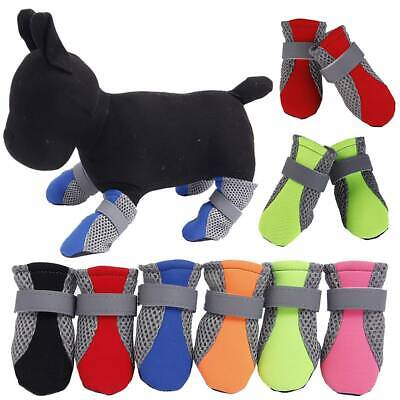 4 Waterproof Pet Shoes Winter Dog Cat Snow Boot Warm Mesh Booties for Chihuahua