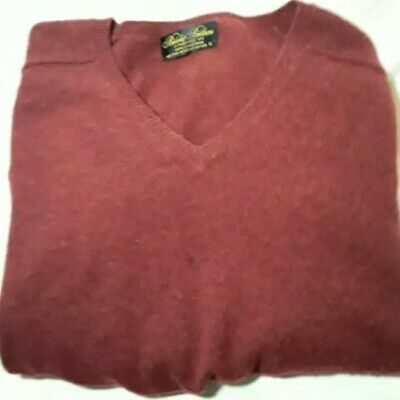 Brooks Brothers Men's Lambs Wool Sweater V-Neck Pullover Size XL