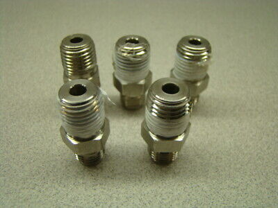 """Swagelok SS-400-1-4 Straight Connector, 1/4"""" Tube x 1/4"""" NPT Male, QTY of 5"""