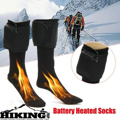 Rechargeable Hot Battery Heated Boot Socks Feet Foot Warmer Electric Heater Gift