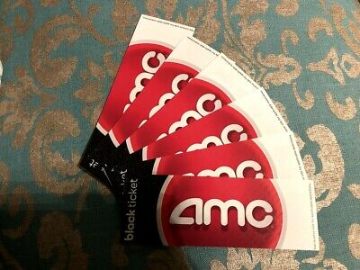 6 * AMC Theater Black Movie Ticket - No Expiration (Perfect for the holidays)