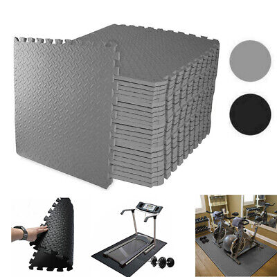 UK Gym Flooring Mats Interlocking Puzzle Exercise Mat Protective EVA Foam Tiles