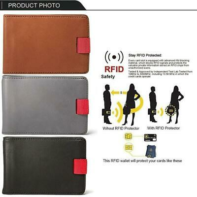 Handmade RFID Blocking PU Leather Slim Pull-Out Wallet