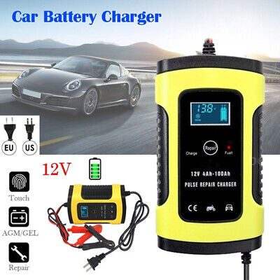 US Digital Battery Charger LCD Display 6A 12V Amp Volt RV Car Truck Motorcycle