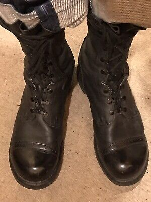 """Men's Corcoran 1525 Black Leather Lace-Up Tactical Military 10"""" Jump Boots SZ 12"""