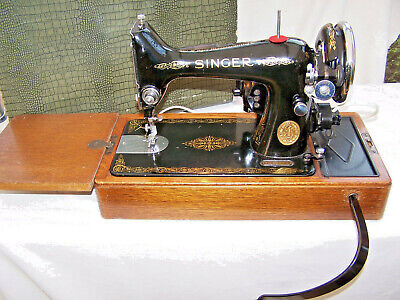 Vintage 1939 Singer Sewing Machine Model 99K Electric  Excellent Tested