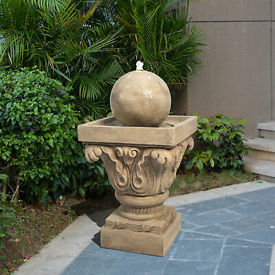 PPeaktop Outdoor Garden Patio Decor Stone LED Water Fountain Feature VFD8405-UK