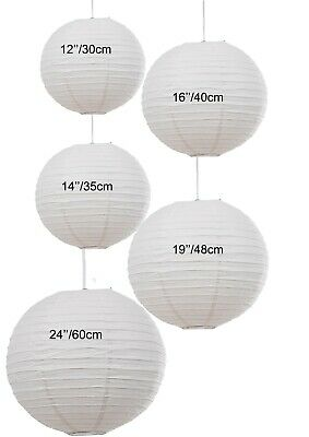 "6812 12/"" Pink Paper Lantern Pendant Hanging Shade Light Bedroom"
