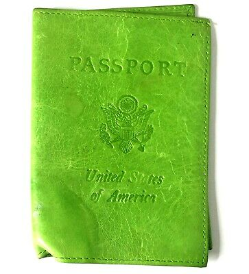 Abas United States Of America Green Passport Holder