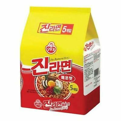 Ottogi Jin Ramen Noodles (Spicy) 120g (Pack of 5)