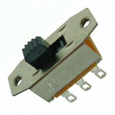 Pack of 5   Slide Switch  DPDT 3A