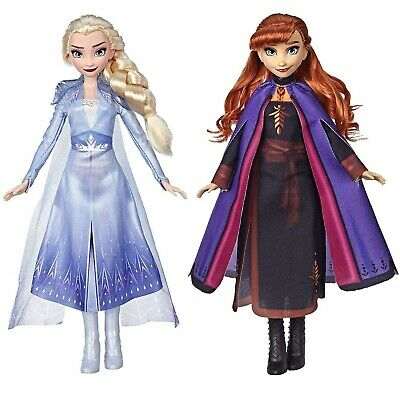 Disney Frozen II Anna and Elsa Fashion Dolls by Hasbro Long Hair Blue Outfits