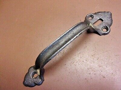 "Vintage 7"" Cast Iron Thumb Latch Door Handle Shed Barn Gate Handle Clean One!"