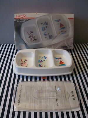 Evenflo Electric Feeding Dish With Clear Cover -- 123 Abc