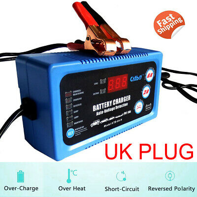 6V 12V Automatic Trickle Battery Charger Maintainer Booster - Car Caravan Boat