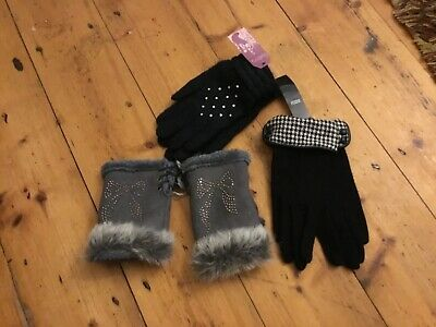 Bundle X 3 Pairs Of Ladies Gloves: including  M&S and more New