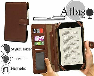 Navitech Brown Book Case For Coby Kyros Tablet Device NUEVO