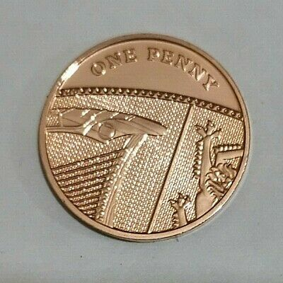 2018 Royal Mint Royal Shield BU 1p One Pence Coin - Brilliant Uncirculated