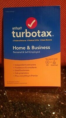 Intuit TurboTax Home & Business 2019, Federal with State + Efile for Windows/MAC