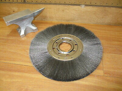 "Osborn 21050 Wire Brush 12"" *NEW* Crimped Wire Narrow Face Wheel 1"" Face .006"""