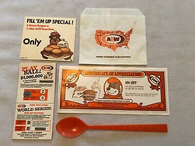 Collection Of 5 Different A & W Root Beer Collectibles