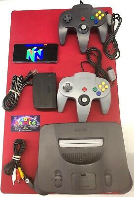 Nintendo 64 N64 Game Console Bundle Multiple Options 1-4 Controllers Tested