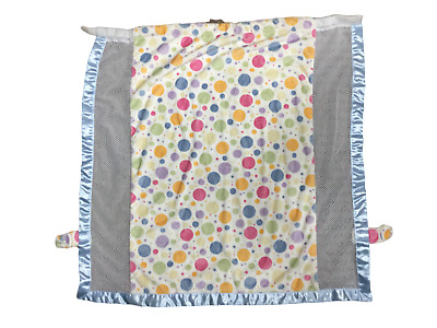 CoverTots Cozy Elegant Floating Pastel Dots w/ Blue Trim-Stroller Blanket