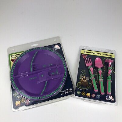 Constructive Eating Garden Utensil Set with Garden Plate for Toddlers Kids USA