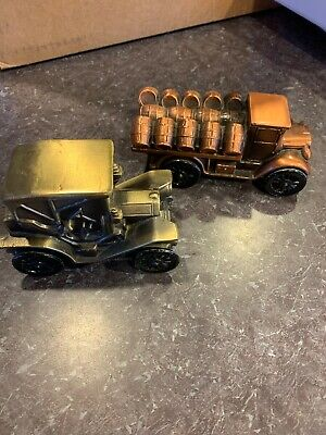 VINTAGE MID-CENT COPPER METAL Truck TOY CAR BANK 1974 BANTHRICO INC. CHICAGO Lot