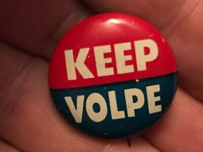 KEEP VOLPE Vintage Political Pin Back Button