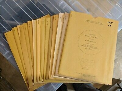 Lot of 14 MONTANA Geologic Quadrangle Maps- US Geological Survey