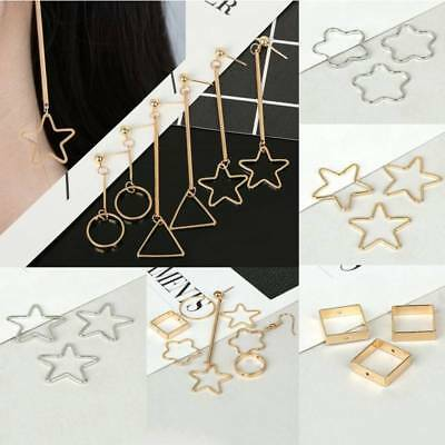 10pcs DIY Pendants Copper Round Square Star Rings DIY Jewelry Earring Findings