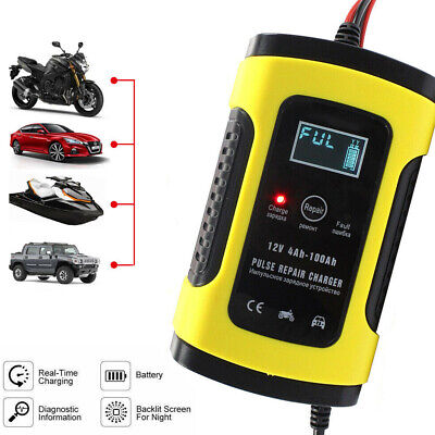 US Stock 12V Car Motorcycle Intelligent Battery Charger Auto Smart Charger